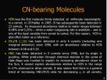 cn bearing molecules