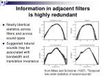 information in adjacent filters is highly redundant