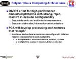 polymorphous computing architectures