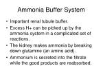 ammonia buffer system