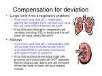 compensation for deviation