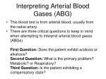 interpreting arterial blood gases abg