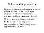 rules for compensation