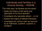 individuals and families in a diverse society hhs4m
