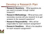develop a research plan