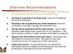 interview recommendations