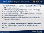 bewell wellness programs and services