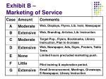 exhibit b marketing of service
