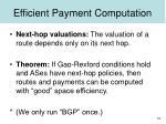 efficient payment computation