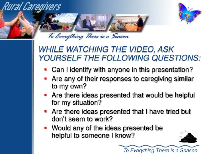 Can I identify with anyone in this presentation?