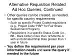 alternative requisition related ad hoc queries continued1