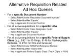 alternative requisition related ad hoc queries