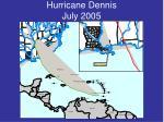 hurricane dennis july 2005