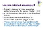 learner oriented assessment