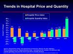 trends in hospital price and quantity