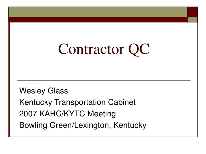 contractor qc n.
