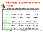 advances in wireless sensor nodes