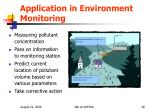 application in environment monitoring