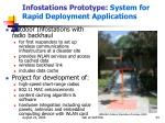 infostations prototype system for rapid deployment applications