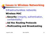 issues in wireless networking1