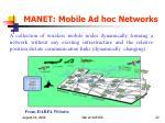 manet mobile ad hoc networks
