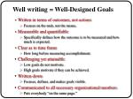 well writing well designed goals