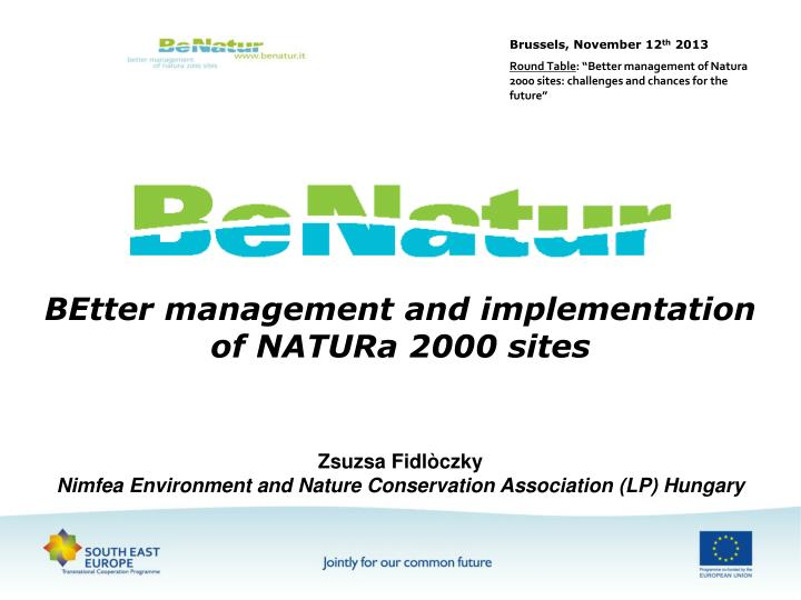 better management and implementation of natura 2000 sites n.