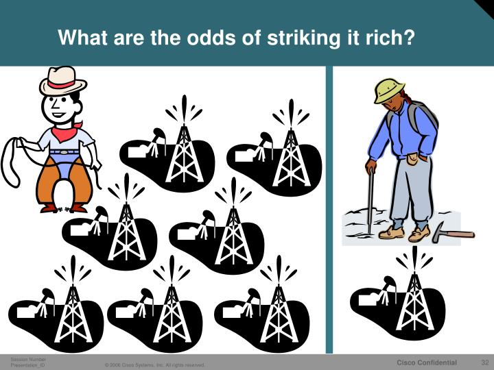 What are the odds of striking it rich?