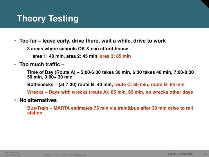 Theory Testing
