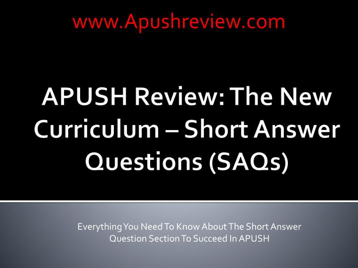 apush essay questions chapters 1 4 Apush essay questions 1975-2007 2007 - settlers in the 18th century american backcountry sometimes resorted to violent protest to express their grievances analyze the causes and significance of two of the following: march of the paxton boys, regulator movement, shay's rebellion.