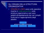gli organi della struttura organizzativa