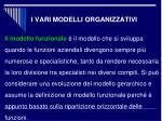 i vari modelli organizzativi1