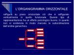 l organigramma orizzontale