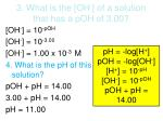 3 what is the oh of a solution that has a poh of 3 00