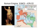 roman empire 31bce 476 ce