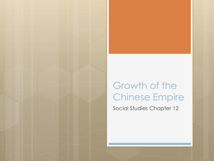 growth of the chinese empire n.
