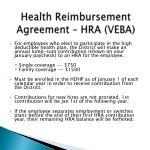 health reimbursement agreement hra veba