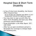 hospital days short term disability