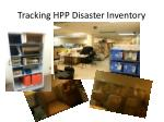 tracking hpp disaster inventory
