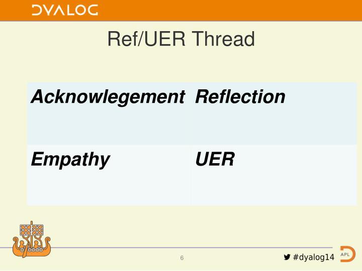 Ref/UER Thread