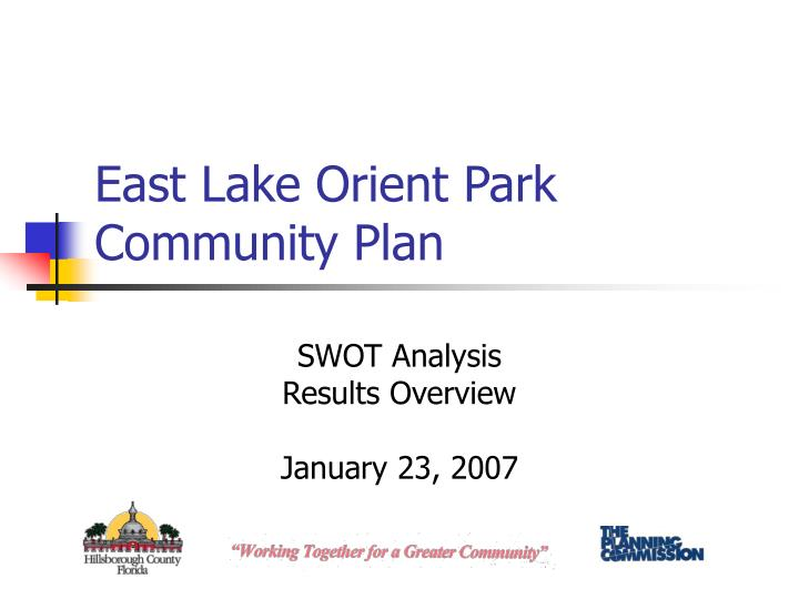 east lake orient park community plan n.