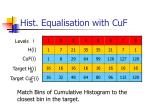 hist equalisation with cuf