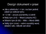 design dokument v praxi