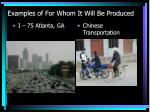 examples of for whom it will be produced