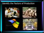 identify the factors of production