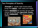 two principles of scarcity
