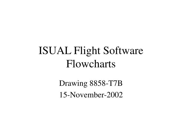 isual flight software flowcharts n.