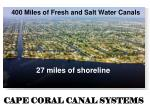 cape coral canal systems