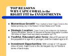 top reasons why cape coral is the right fit for investments