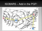isobars add in the pgf